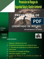 Capacitaciones Teorico Practico en Desatado de Rocas.
