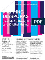 Mapping Diasporas | Course Flyer (Spring 2019)