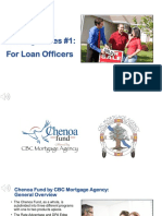 Chenoa Fund Training #1 - For Loan Officers