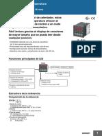 h09e e5cb Temperature Controller Datasheet Es