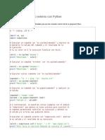 Ejecutar Un Comando Externo Con Python