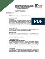 Informe 6 Determinación de La Solubilidad de Los Sólidos Marcela Muzzio Paralelo 52