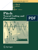 Pitch - Neural Coding and Perception - C. Plack, Et Al., (Springer, 2005) WW