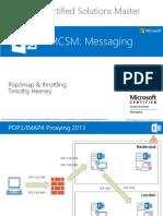 MCSM Exchange 2013 - CAS - 7 Pop-imap and Throttling
