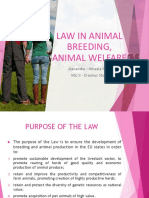 Law in Animal Breeding