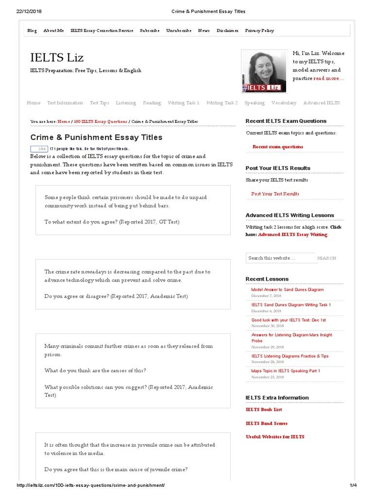 crime essay topics