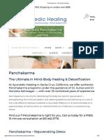 Panchakarma - Ayurvedic Healing