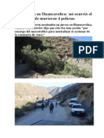 Emboscada en Huancavelica - Así Ocurrió El Ataque Donde Murieron 4 Policías