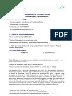 FORMULÁRIO DE ENCERRAMENTO - PÓS-DOUTORADO