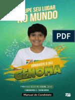 Manual Processo Seletivo 2019 Colegio Genoma Segunda Chamada