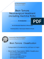 Brain Tumors Neurosurgical Treatment Including Gamma Knife