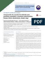 Comparacion 3 Pautas Sedacion en Anestesia Regional