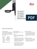 Leica m125c m165c m205c m205a Usermanual Es