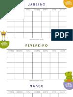 Calendario Das Emocoes Clean