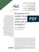 Reciprocidad y capital social