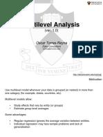 Multilevel Model Analysis Using Stata