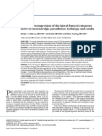 [19330693 - Journal of Neurosurgery] Dynamic Decompression of the Lateral Femoral Cutaneous Nerve to Treat Meralgia Paresthetica_ Technique and Results