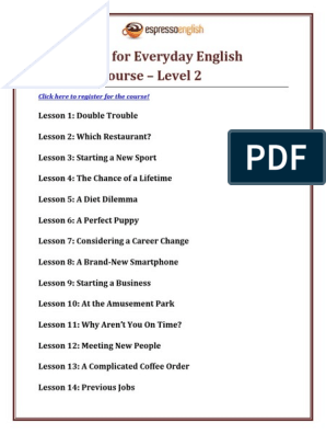 Lesson-List-Everyday-English-Speaking-Course-Level-2.pdf Job Information Lesson on job bible,