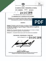 Decreto 2461 Del 28 de Diciembre de 2018