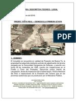 Memoria Descriptiva Tecnico - Legal - Terreno Vista Real