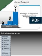 LGU Policy Issue on LG Rev Gen and Fund Mngt