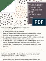 3. Timelines in Philippine Literatures