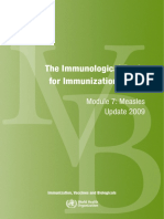Immunological Basis Immunization - Measles