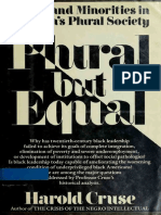 Harold Cruse - Plural but Equal - Blacks and Minorities in America's Plural Society