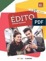 Edito b1 Methode de Francais Livre