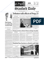 The Stanford Daily, Oct. 19, 2010