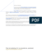 Plan de Analisis de La Competencia en Marketing