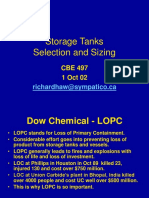Storage Tanks design and safety