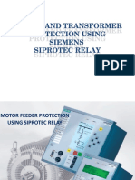 Motor and Transformer Feeder Protection Using Siperotec Relay