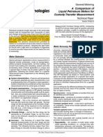 FMC - A Comparison of Liquid Petroleum Meters for Custody Transfer Measurement