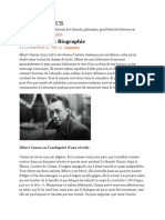 Albert Camus - Biographie