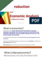 1. Introduction to Economic Analysis