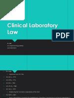 Clinical Laboratory Law RA. 4688