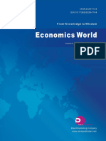 Economics World, Vol.6, No.6, 2018