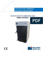 Carte Tehnica Cazan Fonta RIMA M-MAX Cu Ventilator