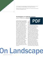 The Emergence of Landscape Urbanism