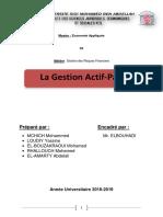 Gestion Actif Passif