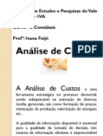Analise de Custos- c.cont..