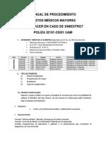 Manual de Procedimiento de Gastos Medicos Mayores en Caso de Siniestro Uam Dic2014