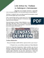 Lendas de Arton 5 Taskan Skylander Interpor e Arremesso