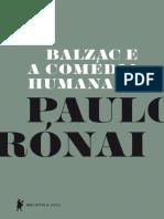 Paulo Rónai Balzac e a Comédia Humana
