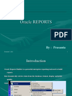 Oracle Reports by Prasanthrath