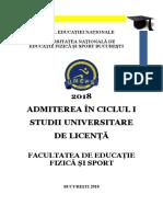 Brosura Admitere Licenta Efs 2018 Site UNEFS