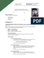 Khawar Yaqoob CV