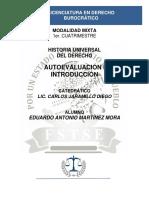 Autoevaluación I - Historia Universal Del Derecho