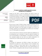 NP- El PSOE Considera Incoherentes Las Declaraciones Del PP Sobre El Pleno